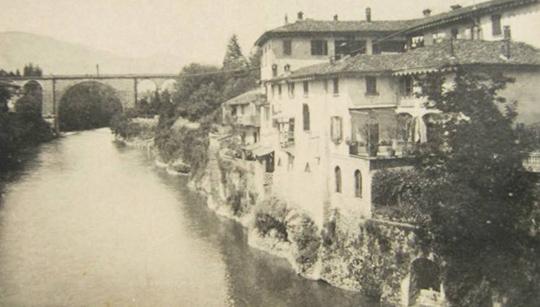 Ponte San Pietro - il fiume Brembo